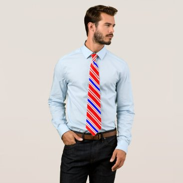 Professional Business Red White Blue Pinstripe Tie
