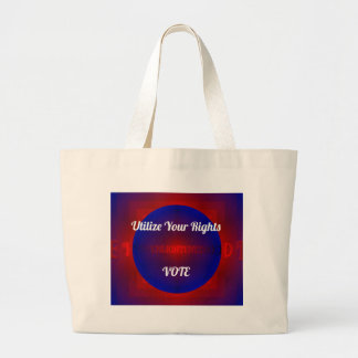 Red White Blue Political Right To Vote Abstract Large Tote Bag