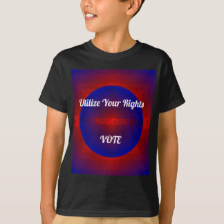 Red White Blue Political Right To Vote Abstract T-Shirt