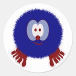 Red White Blue Pom Pom Pal Stickers