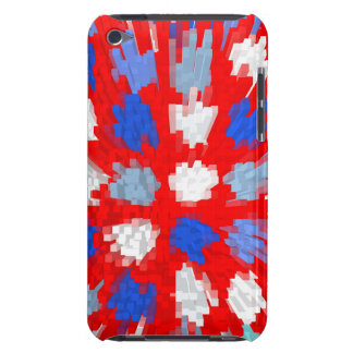 Red, white, blue randon dots, iPod hard shell case Barely There iPod Cases