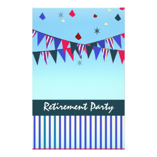 "Red White Blue Retirement Party 5.5"" X 8.5"" Flyer"