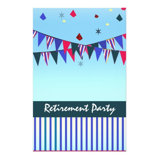 Retirement poster template