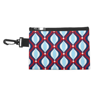 Red, White, & Blue Retro Style Accessory Bags