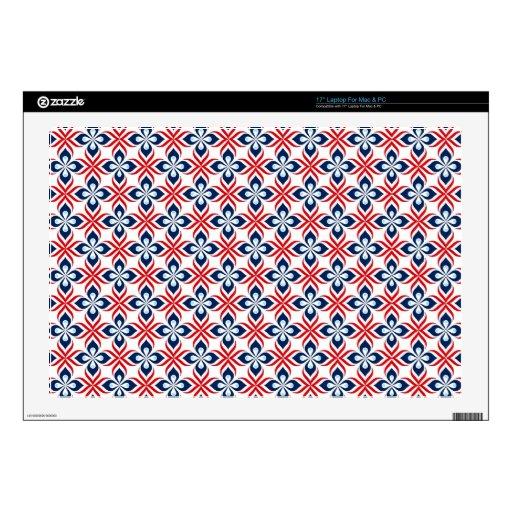 Red, White, & Blue Retro Style Skin For Laptop