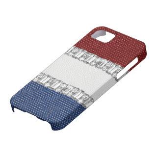Red White Blue Rhinestone iPhone4 Case iPhone 5 Case