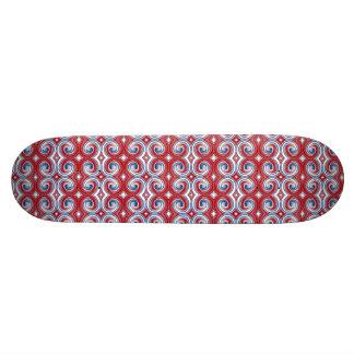 Red White Blue Ribbon Skateboard Oldschool