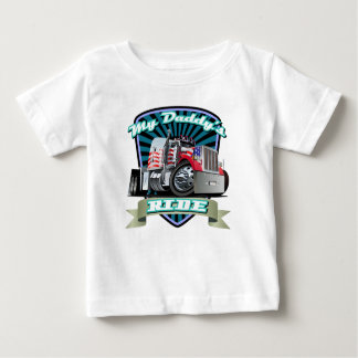 Red White & Blue Semi Tractor Trailer Baby T-Shirt