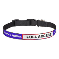 Red White Blue Service Animal Dog Collar