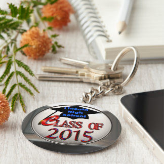 Red White & Blue & Silver Class Of 2015 Keychain