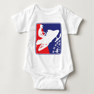 red-White-Blue-Sled-zazzle Baby Bodysuit
