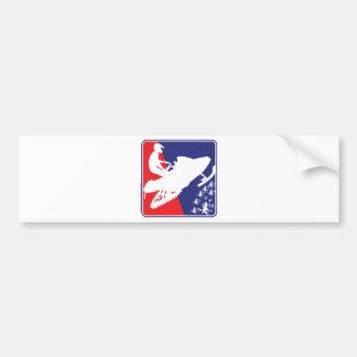 red-White-Blue-Sled-zazzle Bumper Sticker