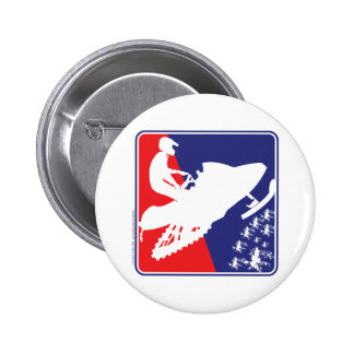 red-White-Blue-Sled-zazzle Pinback Button