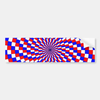 Red White Blue Spiral Bumper Sticker