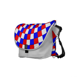 Red White Blue Spiral by Kenneth Yoncich Messenger Bag