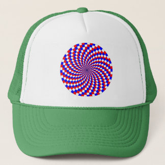 Red White Blue Spiral by Kenneth Yoncich Trucker Hat