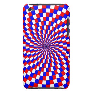 Red White Blue Spiral Barely There iPod Case