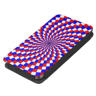 Red White Blue Spiral Galaxy S5 Pouch