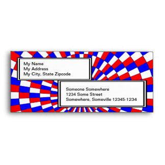 Red White Blue Spiral Envelopes