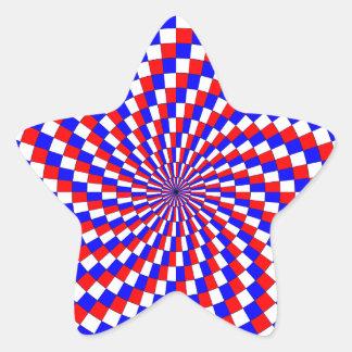 Red White Blue Spiral Stickers