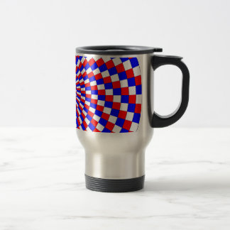 Red White Blue Spiral Travel Mugs