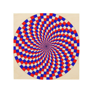 Red White Blue Spiral Wood Wall Decor