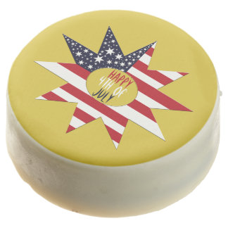 Red White Blue Star Chocolate Dipped Oreo