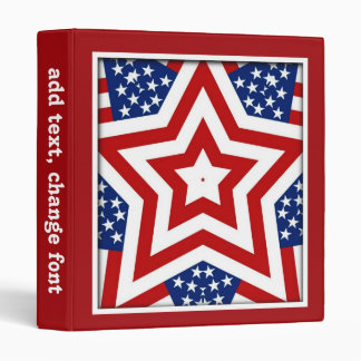 Red White & Blue Star Design to Add Text Binder