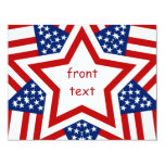 Red White & Blue Star Design to Add Text Personalized Invites