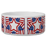 Red White & Blue Star Design to Add Text Dog Water Bowl