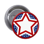 Red White & Blue Star Design to Add Text Pins