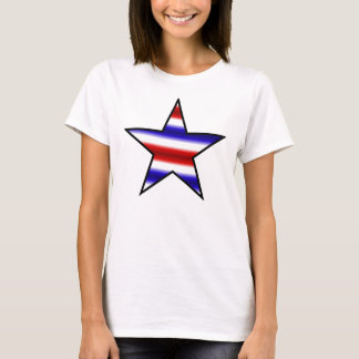 Red white blue star T Shirt