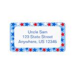 Red White & Blue Stars Address Label