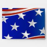 Red white & Blue Stars and Stripes Envelopes