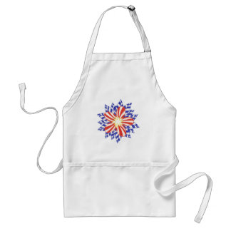 Red White Blue Stars and Stripes Flower Aprons