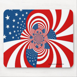 red white blue stars and stripes mouse pad