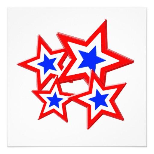 Red, White And Blue Shortcake Stars Recipe — Dishmaps