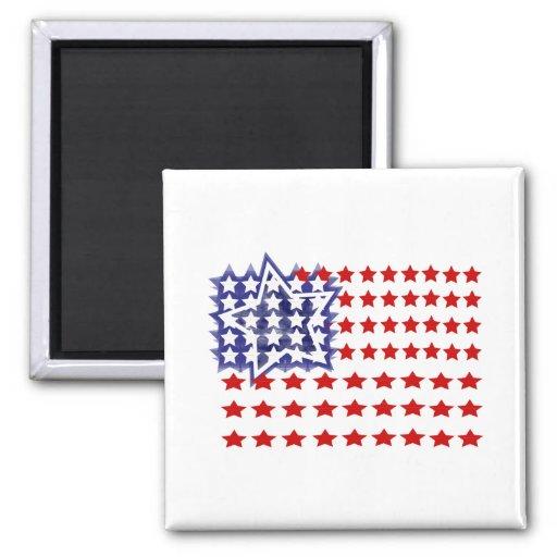 Red, White & Blue Stars Magnet