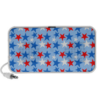 Red White & Blue Stars Notebook Speakers