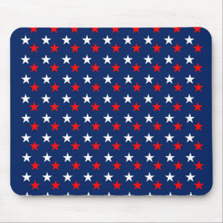 RED WHITE BLUE STARS PATTERN BACKGROUNDS WALLPAPER MOUSE PAD