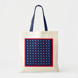 RED WHITE BLUE STARS PATTERN BACKGROUNDS WALLPAPER TOTE BAG