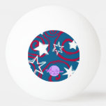 Red White & Blue Stars Pink Pong Ball Ping Pong Ball
