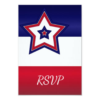 Red White & Blue Stars RSVP Card