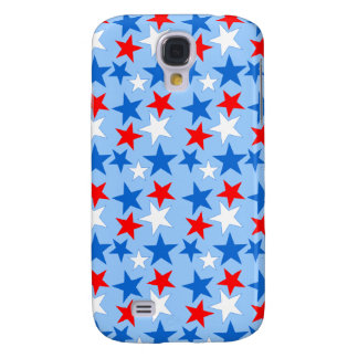 Red White & Blue Stars Samsung Galaxy S4 Covers
