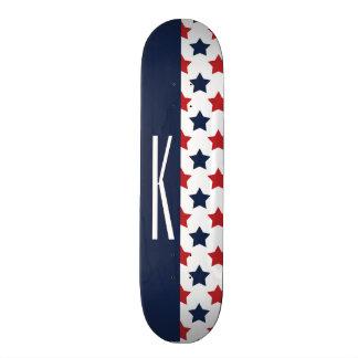Red, White, & Blue Stars Skateboard