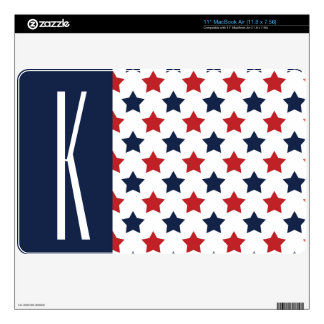 Red, White, & Blue Stars Skins For The MacBook