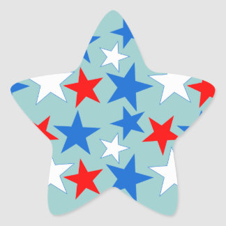 Red White & Blue Stars Star Sticker