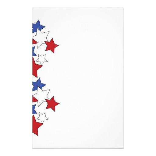 Red, White & Blue stars stationary Stationery Design | Zazzle