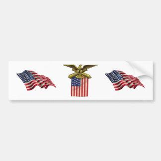 Red White Blue Stars Stripes Flag USA Bumper Sticker