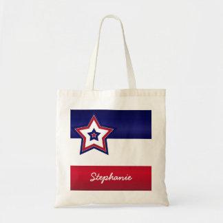 Red White & Blue Stars Tote Bag